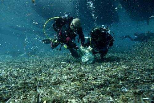 Pulizia dei fondali marini