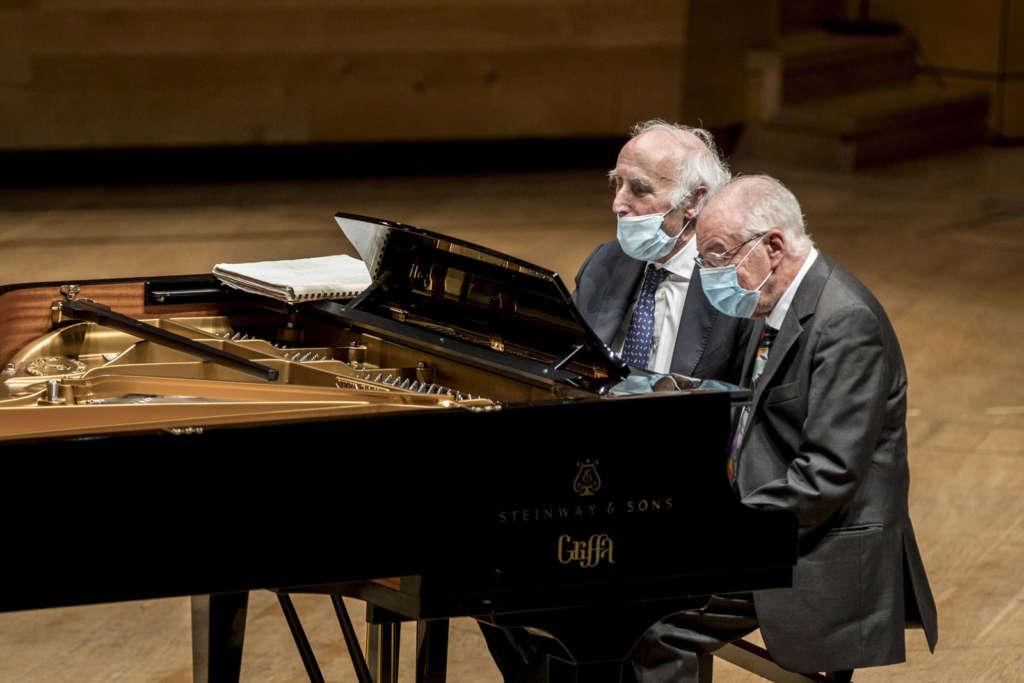 MITO SettembreMusica Bruno Canino e Antonio Ballista durante la performance
