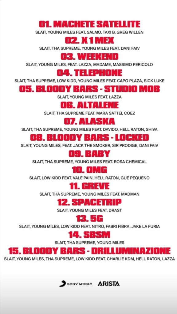 Titoli dei brani di Bloody Vinyl vol. 3